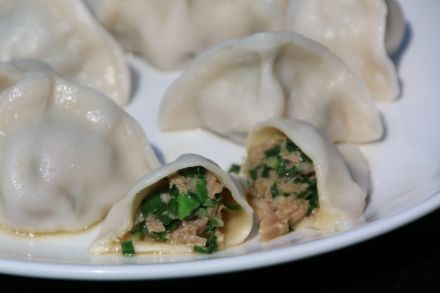 Leek and Pork Boiling Dumpling